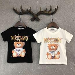 2019 camisetas para hombre transpirable Ropa de diseñador para niños Chica Baby Boy Moda Estampado de algodón Ropa de diseñador Diseñador para hombre T-Shirt Marca de moda transpirable Lujo D-2 camisetas para hombre transpirable baratos
