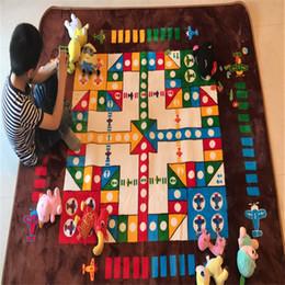 tapetes de tamanho de sala Desconto Crianças engraçadas Desenvolvimento Tapete Ludo Padrão Anti-Slip Atividade Tapete para Sala de estar 150x200 CM Tamanho Grande Criança Mat Dice Playmat