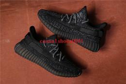 mediados de corte zapatos para correr Rebajas 2019 nuevo 350 V2 TRFRM True Form Clay Hiperespacio negro gris ESTÁTICA REFLECTANTE Hombres Mujeres Kanye West zapatillas deportivas Zapatillas deportivas A008