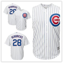 c1531ec45eeaf Custom 2019 Men's Cubs 28 Kyle Hendricks Chicago White Home Cool Base women  kids Jersey