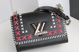 Argentina Paquete para dama Bolso de hombro para mujer Accesorios de moda para niña 2019 nuevos productos Boutique Bonito patrón de tejido 23 * 18 * 8 cm lo mejor. Suministro