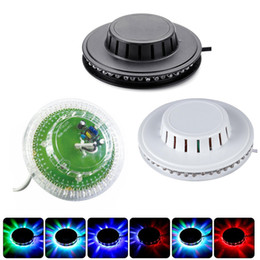 Lumières de danse tournantes en Ligne-Etape LED Lumière 7W 48LEDs RVB Changement de couleur automatique Tournant Tournant UFO Bar Disco Soirée Dansante DJ Club Pub Musique Lumières