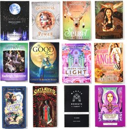 deck cards Promo Codes - Mystical Shaman Oracle Cards Deck English Mysterious Fate Divination Tarot Cards Board Games For Women Party Family
