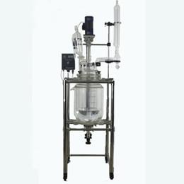 Contenitore di reazione chimica del reattore di vetro del reattore di vetro 10L con doppio strato Reactor di vetro SF-10L da motore di generatore di potenza fornitori