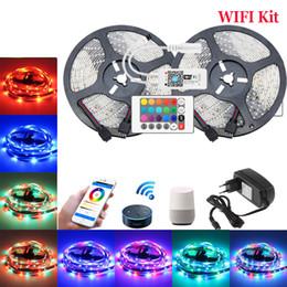 DC12V 2835 SMD RGB WIFI LED Strip 10M 15M Cinta flexible inteligente Luz Magic Home APP Google Home Alexa Control inalámbrico TV Light desde fabricantes
