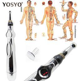 2020 caneta de massagem Newst Caneta de Acupuntura Eletrônica Meridianos Elétrica Terapia A Laser Curar Caneta de Massagem Meridian Energia Caneta Alívio Da Dor Ferramentas desconto caneta de massagem