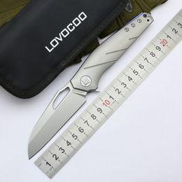 Canada LOVOCOO APOLOGIST rabattable couteau S35VN lame titane poignée camping couteau de poche couteau tactique de survie en plein air outils EDC supplier tactic tools Offre