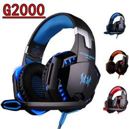 Portátiles baratos para juegos online-New Cheap Kotion Each G9000 Gaming Headset Headphone 3.5mm Stereo Jack with Mic LED Light retail in ear for Laptop PS4 Tablet