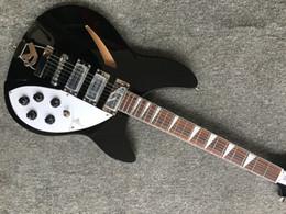 Guitarras rick on-line-Preto Nova Chegada 325 330 Rick 6 Cordas Guitarra Elétrica de Alta Qualidade Melhor Frete Grátis