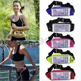 Cubierta corriente iphone online-Funda flexible para correr GYM Sport Waist Case Armband Pouch Bag Cover para Iphone 5 6 7 para Samsung s6