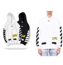 Chapéu de tigre branco on-line-Hoodies Moletons Para Homens 2018 Outono E Inverno Tiger Stripe Tampas de Tinta Branco Amantes do Estudante Moda chapéu