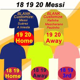 19 20 barcelona MESSI SUAREZ Home Away Camisetas de fútbol para hombre 18 19 PIQUE COUTINHO DEMBELE Terceras Camiseta de futbol RAKITIC DE JONG Mangas cortas Uniformes desde fabricantes