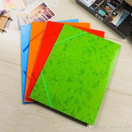 2019 pastas para a escola Vários cores vivas da pasta saco a4 arquivo com elástico para alunos do ensino escritório usando pastas para a escola barato