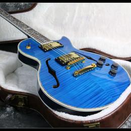 2019 schiff benutzerdefinierte hohlkörper gitarren Starshine New Design Gute Qualität F Loch 6 String Benutzerdefinierte E-gitarre Semi Hollow Body Freies Verschiffen günstig schiff benutzerdefinierte hohlkörper gitarren