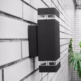 белые наружные настенные светильники Скидка Уличные светодиодные настенные светильники Водонепроницаемый IP65 алюминиевый сад крыльцо коридор огни