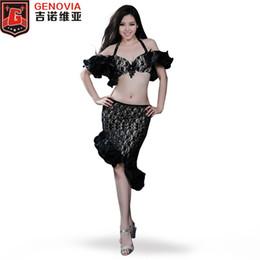 chinesische taschentücher Rabatt Orientalischer Tanz Bauchtanz-Kostüm-Klage-Verein-Stadium 3 Stück BraSkirt Sicherheitshosen Ermutigten Leistung Kostüme Set Color 4