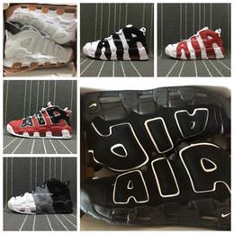 zapatillas pippen Rebajas Zapatillas de baloncesto chaussures nike air more uptempo  para hombre, tricolor de alta calidad Scottie Pippen PE triple blanco deporte zapatillas deportivas US5.5-13