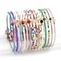 Piccolo fascino per i braccialetti online-Seed Handmade borda il braccialetto Facile piccoli Minimal Coppie Dainty rilievo Amicizia bracciale Charms regolabili Bangle