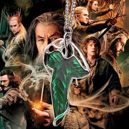 2019 señor anillos collar colgante Doble capacidad gótica The Lord Rings Elf Leaf Broche Collar verde hoja colgante mujeres hombres joyería de película 160487 señor anillos collar colgante baratos