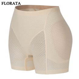 Bumbum de quadris on-line-FLORATA Shaper Bottom Calcinhas Mulheres Esvaziado Respirável Underwear Hip Enhancer Butt Pad Hip Calças Breve Calcinha Potenciador