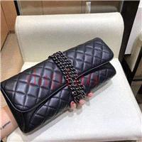 2019 marcas americanas vestidos de noche Caviar nuevos clásicos de la moda y el color de piel de cordero negro bolsas de dama hilo BOLSAS feminians las mujeres del bolso de embrague noche bolsas crossbody23f3 #