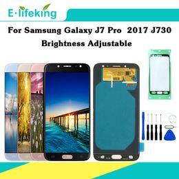 Partes profesionales online-100% probado para Samsung Galaxy J7 Pro 2017 J730 J730F Pantalla LCD Pantalla táctil Digitalizador Ensamblaje Piezas de repuesto Brillo ajustable