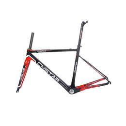 Chinesische fahrradmarken online-Freies Verschiffen Rote Marke Chinesischen Carbonrahmen BSA Carbon Rennrad Teile R01 Max Reifen 25mm