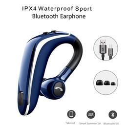 2019 gancho super bluetooth Gancho Da Orelha do negócio Fone de Ouvido Bluetooth V5.0 Bluetooth Sem Fio Fones De Ouvido Estéreo Esportes À Prova D 'Água fone de Ouvido Super Longo Espera Fones De Ouvido desconto gancho super bluetooth
