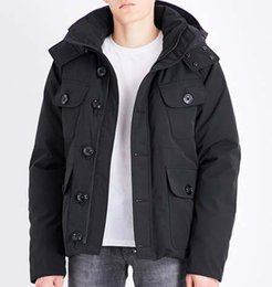 mens black coats sale Coupons - Fashion Down Parka Winter Men Brand  Designer Hoodies Selkirks Man 352353348182