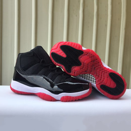 Nike Air Jordan Retro 11 Stock X With Original Box 11 Bred 11s Mens Basketball shoes 378037-061 Black Red women men sports sneakers de