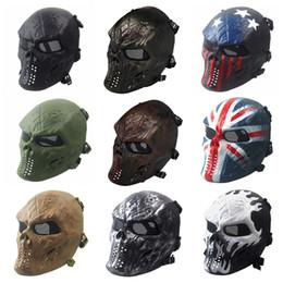 Mascarilla facial de miedo online-Halloween Chiefs M06 Máscaras CS personalizadas Esqueleto de la cara completa Juego Máscara del cráneo Táctica Máscara de miedo fantasma