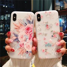 téléphone transparent vivo Promotion Étui pour téléphone mobile iphone XS MAX avec fleurs d'été pour coque souple Apple 8plus / XR, coque protectrice vivo / oppo