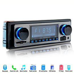 2019 carro gps navegador bluetooth mp3 Car player multimídia Rádio Do Carro Clássico FM Retro Bluetooth Estéreo MP3 Player USB Do Veículo Do Jogador U-disco Plug-in Rádio DVD máquina