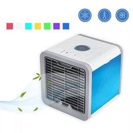 USB Mini Portátil Purificador de Umidificador de Ar Condicionado 7 Cores Luz Desktop Ventilador De Refrigeração De Ar Ventilador Do Refrigerador De Ar para Home office de