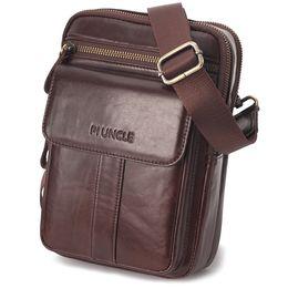 2019 bolsa vintage de carteiro de couro dos homens de couro saco Computer Business Briefcase Vintage Moda Messenger Bags Man Shoulder Bag Postman Masculino Bolsas bolsa vintage de carteiro de couro barato