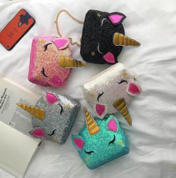 Блестящие блестки единороги сумка дети звезды вышивка лошадь сумка дети цепь один сумка дети мультфильм сумка F8321 от Поставщики натуральная краска
