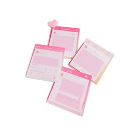 kinder klebrige notizen Rabatt 5pcs Rosa Series Ins-Dialogfeld Stil selbstklebendes Papier Sticky Memo Pad Hinweis Briefpapier Student schriftlich Versorgung Kinder Belohnungen