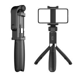 Soporte de control remoto universal online-Selfie Tripod Phone Holder Soporte Stick Monopod con Bluetooth Control remoto inalámbrico Obturador Compatible iOS / Android