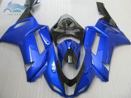 2019 plastica zx636 Kit carena popolare per ZX-6R 07 08 Kawasaki Ninja zx636 ZX 6R 636 carena plastica nera set ZX6R 2007 2008 JU23 plastica zx636 economici