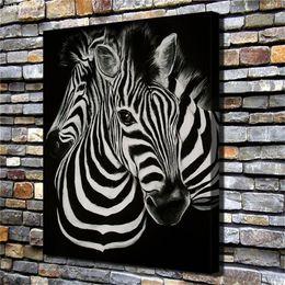 Pintura de cebra casera online-Animal Zebras, Home Decor HD Impreso Modern Art Painting on Canvas (Sin marco / Enmarcado)