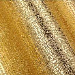 Papel de parede do ouro da sala de estar on-line-Modern Luxury ouro Wallpaper 3D em relevo de ouro folha de papel de parede rolo Sala Quarto 3D PVC papel de parede à prova de água