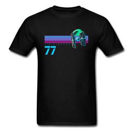 Sterne hemden hip hop kleidung online-Harajuku T-shirt Krawatte Kämpfer und Todesstern T Shirt Männer Hip Hop Tees 80er Jahre Graphic Tshirt Neon Schwarz Kleidung Baumwolle Tops