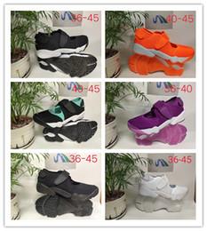 2019 sandalias planas borla marrón Calzado deportivo de alta calidad para hombre y mujer AIR RIFT Hombre Ninja zapatos deportivos al aire libre sandalias