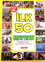 Tarjetas flash de animales online-Diytoy primeros 50 Animal Tarjetas Flash Buque de Turquía HB-000996073