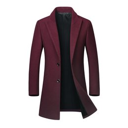 2ae525e3c6741 Men s Autumn Winter Casual Medium Length Lapel Woollen Windbreaker Mens  Coats And Jackets Winter Chaqueton Hombre Erkek Cocuk 5