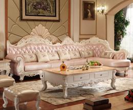 Натуральная кожа гостиной онлайн-2017 высокое качество кожаный диван / гостиная диван мебель / диван L форма большой дом используется диван из натуральной кожи