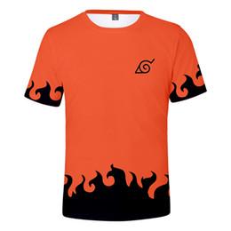Naruto shorts online-Naruto 3D Gedruckt Sommer Männer Kurzarm T-shirt Gedruckt T-shirt Rundhals Weiß Schwarz Designer T-Shirt Tees