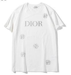 2019 Nueva camiseta de algodón blanco letra de copo de nieve logo imprimir manga corta O-cuello camiseta de hombres y mujeres camiseta llevar camiseta casual S-XXL desde fabricantes