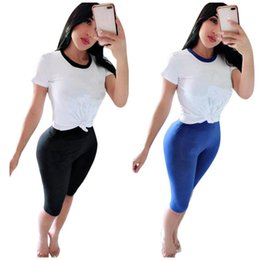 tee length Coupons - Brand Designer women Short Sleeve t-shirt shorts tracksuit two piece set outfits Tee Top sweat Pant tshirt sportswear Sports suit S-2XL 275