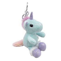 2020 juguetes de peluche de pony Nuevos estilos Unicornio Pony juguetes de peluche 10 cm unicornio llavero colgante agarrar figuras de acción muñeca venta al por mayor envío gratuito L227 rebajas juguetes de peluche de pony